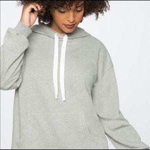 Eloquii Grey Pullover Hoodie